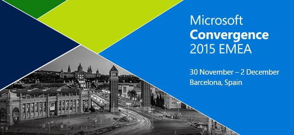Microsoft Convergence 2015 EMAE