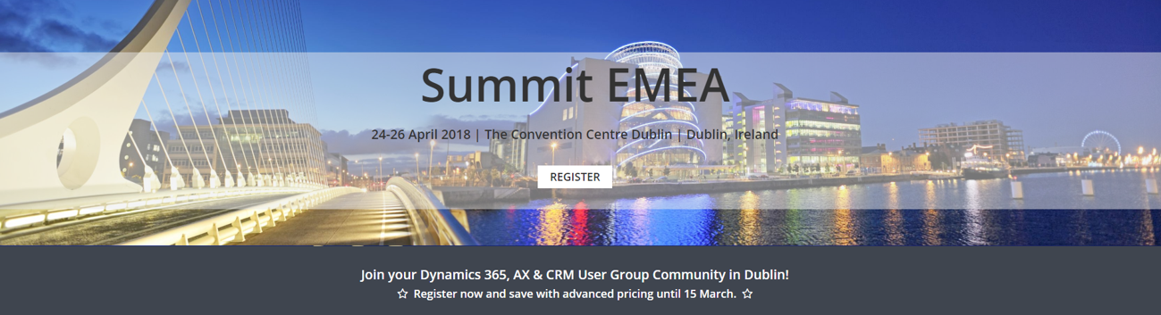 Summit EMEA 2018 | 24-26 April 2018 | Dublin