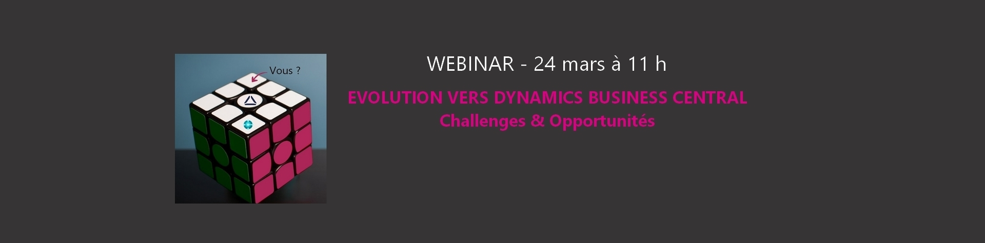 Webinar COSMO CONSULT le 24 mars 2020 : Evolution vers Dynamics Business Central, Challenges & Opportunités